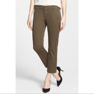 Vince Cropped Chino Pant Hunter Green